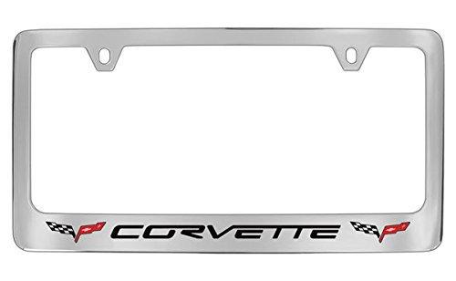 Chevrolet Corvette C6 Chrome Plated Metal License Plate Frame Holder
