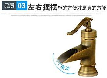 CHENBIN-BB バスルームのシンクは、スロット付き浴室の洗面台のシンクホットコールドタップミキサー流域の真鍮シンクミキサータップ非震とう竹洗面台の蛇口のレトロな竹の洗面台の蛇口ホットとコールド蛇口タップ