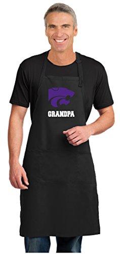 Broad Bay Kansas State Grandpa Apron Large Size K-State Grandpa Gift for Men Man Him