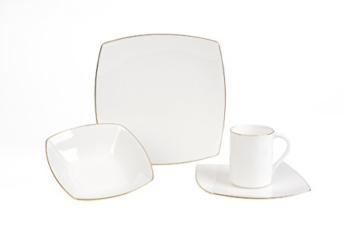 Mikasa Couture Platinum 20 Piece Dinnerware Set, Service for 4