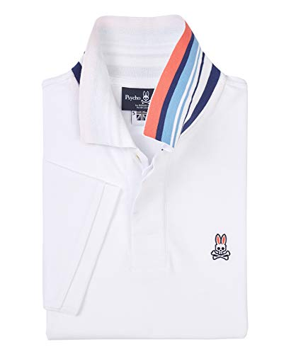 Psycho Bunny Men's Porthill Polo White X-Large ()
