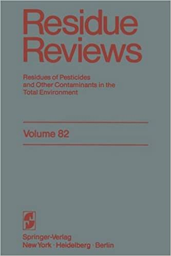 Livres télécharger le fichier pdf Residue Reviews: Residues of Pesticides and Other Contaminants in the Total Environment (Reviews of Environmental Contamination and Toxicology) 0387906789 (French Edition) PDF RTF DJVU by Francis A. Gunther