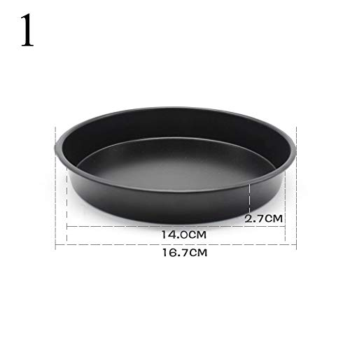 1 piece 6 8 9 Round Cake Pans Mold Stainless steel Household Cupcake Bake Baking Mould Pizza Pan DIY Kitchen Tools]()