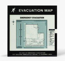 Accuform DTA235 Standard Evacuation Map Holder, 8-1/2