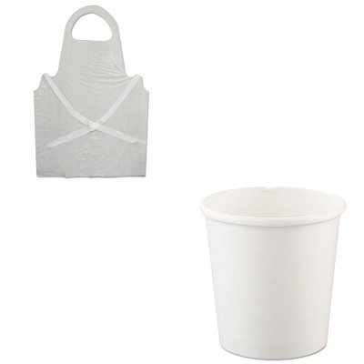 KITBWK390SLOH4165U - Value Kit - Solo Flexstyle Double Poly Paper Containers (SLOH4165U) and Boardwalk Disposable Apron (BWK390)