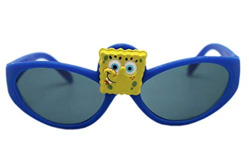 Spongebob Squarepants Blue Framed Spongebob Face Kids Sunglasses -
