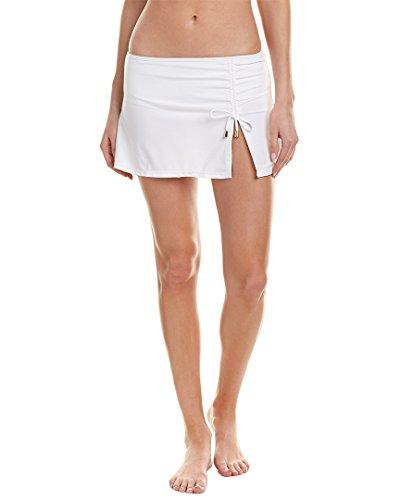 1900884d1e Cabana Life Women s White Swim Skirt Bikini Bottom with Adjustable  Drawstring