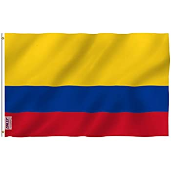 amazon com colombia flag polyester 3 ft x 5 ft colombian flag