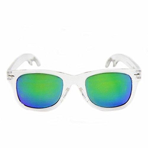 The Natties - Clear Wayfarer Sunglasses with Built-in Bottle - Opener Beer Sunglasses
