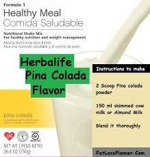 Herbalife Formula 1 Healthy Meal Nutritional Shake Mix Pi a Colada 750 g