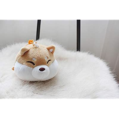 Feel Soon Retail] Fluffy Doll Keyring Plush Pillows (Shiba Inu Dog): Toys & Games