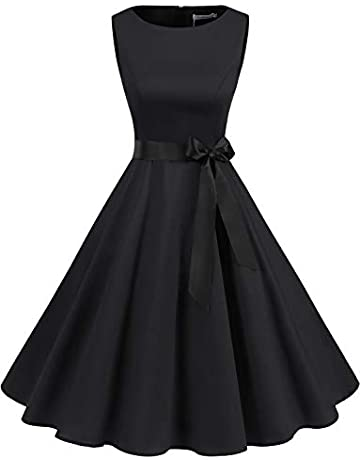 672da82820c216 Gardenwed Women's 50s 60s Rockabilly Cocktail Dress Sleeveless Vintage Prom  Swing Party Dress