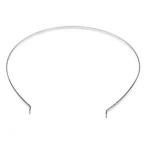 Beadaholique Plated Tiara Headband Frame with Fun Craft Beading Project, 5.5-Inch, Silver