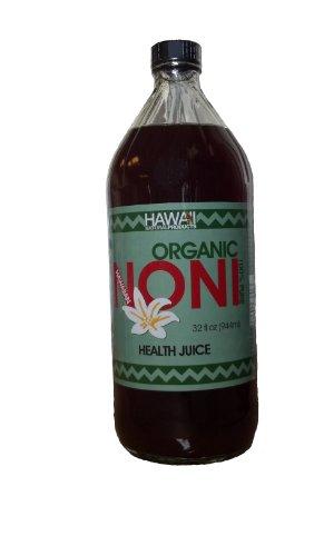 100% Pure Organic Гавайский Сок Нони - 32 жидких унций Стеклянная бутылка