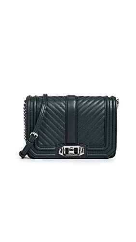 Rebecca Minkoff Women's Chevron Quilted Small Love Crossbody Bag, Pine, One Size from Rebecca Minkoff