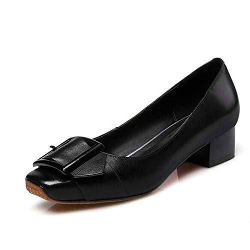 Fall Wine Silver Chunky Nappa Heels Heel Comfort Wine Leather Shoes Black ZHZNVX Women's qxwTUU