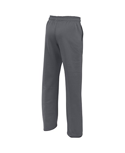 Under Armour Boys' Storm Armour Fleece Big Logo Pants, Graphite/Ultra Blue, Youth X-Large by Under Armour (Image #1)