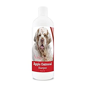 Healthy Breeds Apple Oatmeal Shampoo Spray that moisturizes and the anti inflammatory properties hydrate cool and soothe damage coat and skin.  Relief from dry skin flea bites 8oz 10