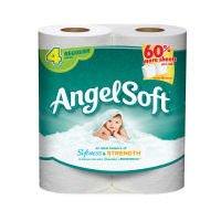 Angel Soft Unsented Bathroom Tissue 132 2-Ply 4 rolls