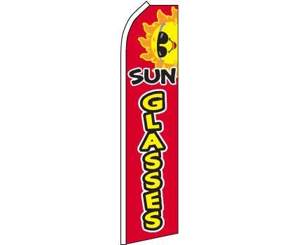 Sunglasses (Red & Yellow) King Swooper Flag(Hardware Not ()