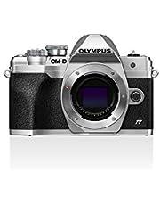 Olympus Olympus OM-D E-M10 Mark IV Micro-Four-Thirds-Systeemcamera, 20 MP Sensor, 5-Assige Beeldstabilisatie, Selfie LCD-Scherm, Elektronische Zoeker, 4K-Video, Krachtige AF, WiFi, Zilver