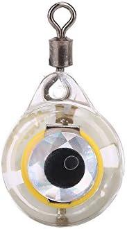 LED Fishing Lure Light, Luminous Eye Shape Underwater Fish Attracting Flashing Lamp Tackle Bait