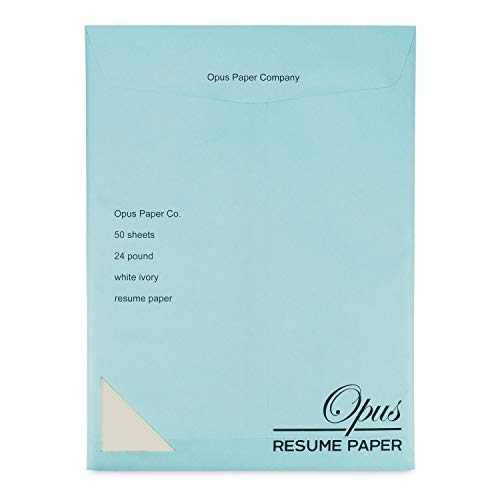 - Plant 1 Tree with Opus Resume Paper | 50 Sheets | White Ivory | No Watermark | 24 Pound | Ideal Stationery for Resumes, Cover Letters, Letterhead