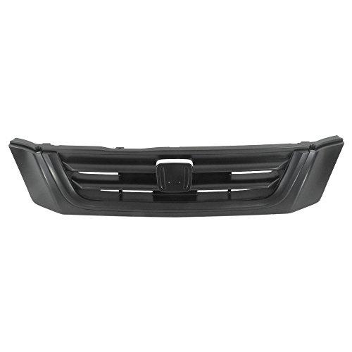 (Titanium Plus Autoparts, 1997-2001 Fits For Honda CR-V Front GRILLE BLACK )