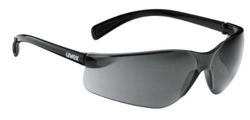 Uvex Flash Occhiali da bici da uomo, Nero/Brillante/Trasparente, TU