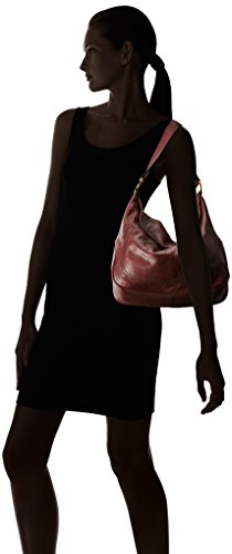 Campus Shoulder Leather FRYE Large Rivet Bag Cherry Black Hobo 1wgnd7xzq