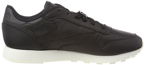 blackchalk Blackchalk Leather Noir Classic Baskets Femme Reebok Hardware Azqgp