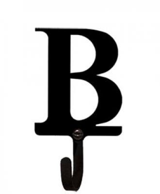 Village Wrought Iron WH-B-S Letter B Wall Hook Small from Village Wrought Iron
