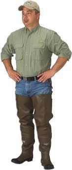 Caddis Men's 2 Ply Rubber Hip Boots, 12
