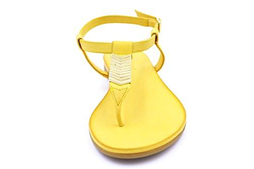 Inuovo - Sandalias para mujer Mustarda