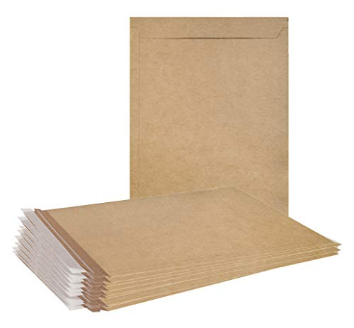 ABC 20 Pack Natural Kraft Stay Flat Mailers 9.5 x 13 Brown Chipboard envelopes 9 1/2 x 13 Rigid Paperboard mailers. Photography Mailers No Bend Photo, Prints. Peel & Seal. Tear Strip. Wholesale ()
