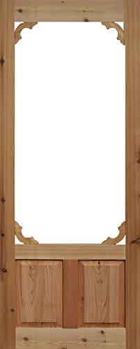 Cedar woodland screen door 36 in x 80 in 36x80 best for Removable screen door