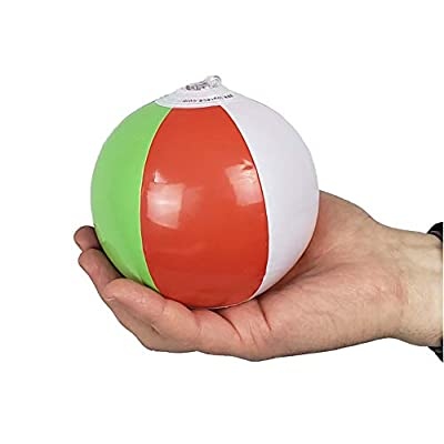 Inflatable Beach Balls 5 inch for The Pool, Beach, Summer Parties, Gifts and Decorations | 50 Pack Mini Blow up Rainbow Color Beach Balls (50 Balls): Toys & Games