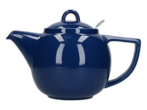 - London Pottery Geo Filter Infuser Teapot, Ceramic, Indigo, 4 Cup (1.1 Litre)