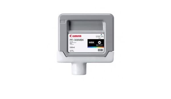 Canon PFI-306MBK 6656B001AA iPF8300 8400 8410 9400 Color Ink Cartridge Matte Black in Retail Packaging