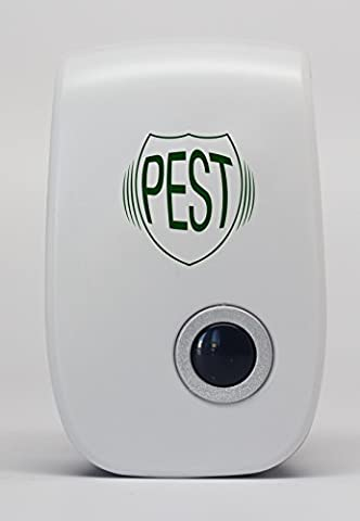 Pest 0 Ultrasonic Pest Repeller - Repels Mice, Rats, Roaches, Spiders, Ants, and Other Insects - Home Pest Control Solution Plus EBook How To Bug Proof Your - Pest Barrier
