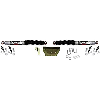 for Ford F-250//350 Super Duty and Excursion - Black Skyjacker 8299 Dual Steering Stabilizer Kit