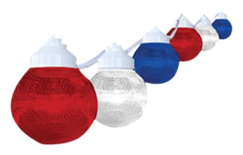 Polymer Products  Patriotic Design 6-Globe String Light