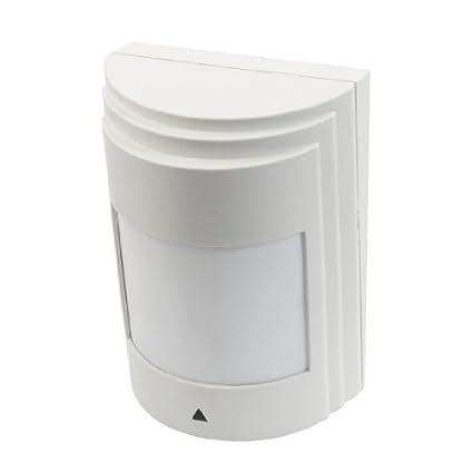 eDealMax Sensor del Detector montaje en pared seguridad sin hilos infrarrojo pasivo PIR Alarma DC 9