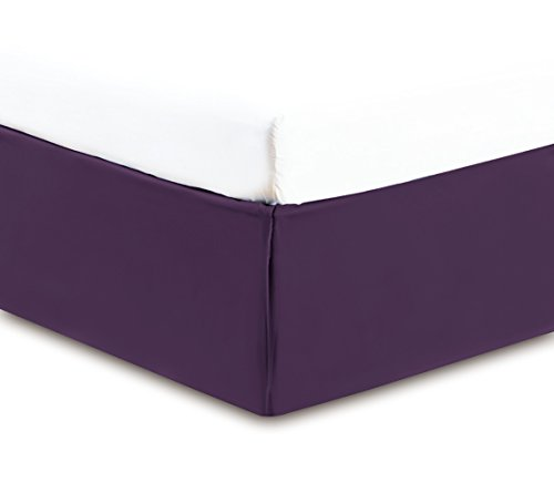 Gold Crown Collection Solid QUEEN PURPLE BED SKIRT 1500 Series High Thread Count 14 inch fall 95 GSM Microfiber dust ruffle allows for natural draping, Silky Soft & Wrinkle Free. Collection Dust Ruffle