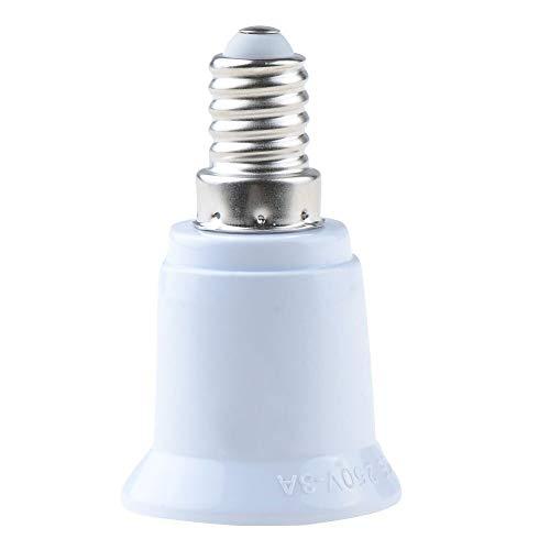 Lamp Holder Converters - 1 Piece Fireproof Material E14 To E27 Lamp Holder Converter Socket Conversion Light Bulb Base Type - Ball 24v E27 Warm Lamp E14 Base E10 Conversion ()