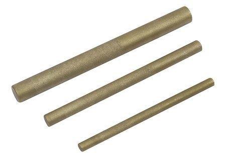 Westward 2ajl3 Brass Drift Punch Set, 3/8, 1/2, 3/4 In, 3pc