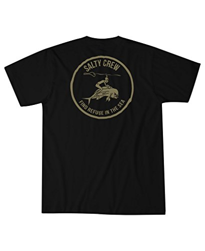 Salty Crew Mahi Cowboy Pocket Tee Shirt SS - - Shirts Ss Black