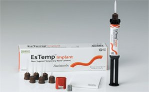 Spident EsTemp Implant- Resin Base Non-eugenorl Temporary Cement, 10g x 1 Syringe by Spident