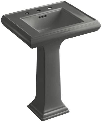 58 Thunder Grey Pedestal - KOHLER K-2238-8-58 Memoirs Pedestal Bathroom Sink with 8