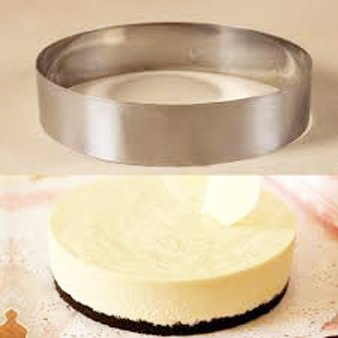 Round Cake Mold/Pastry Ring, S/S, Heavy Gauge. (8'' x 2'')